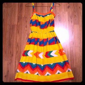 Vintage colorful Aztec print sun dress